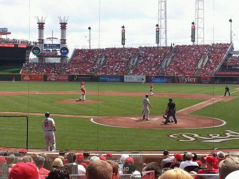 Seating view for Great American Ball Park Section 121 Row R Seat 10