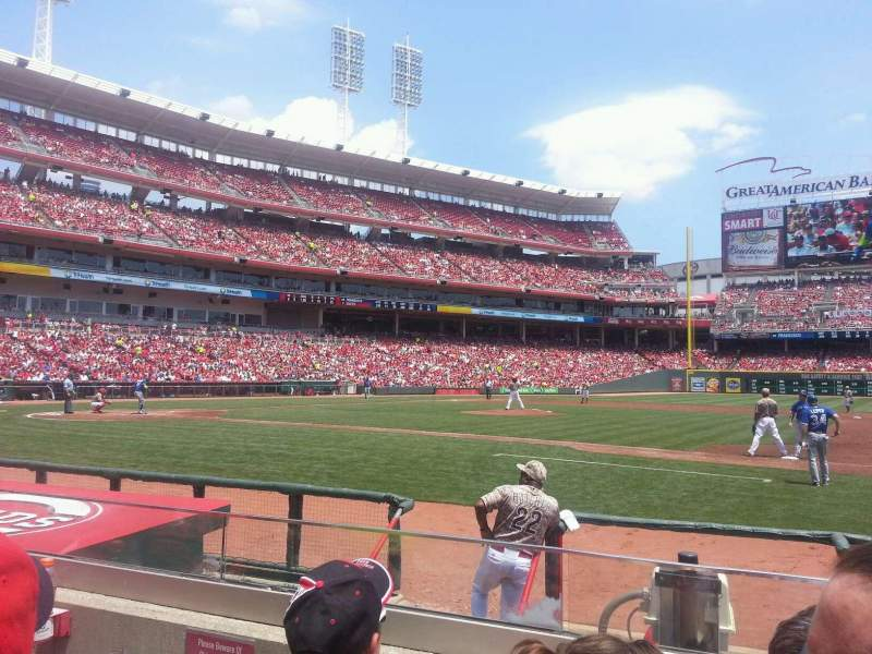 Seating view for Great American Ball Park Section 131 Row H Seat 14