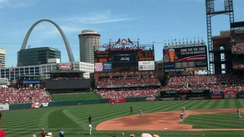 Seating view for Busch Stadium Section 154 Row J Seat 21