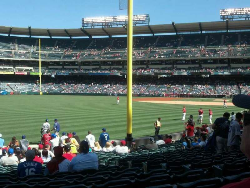 Seating view for Angel Stadium Section 103 Row T Seat 19