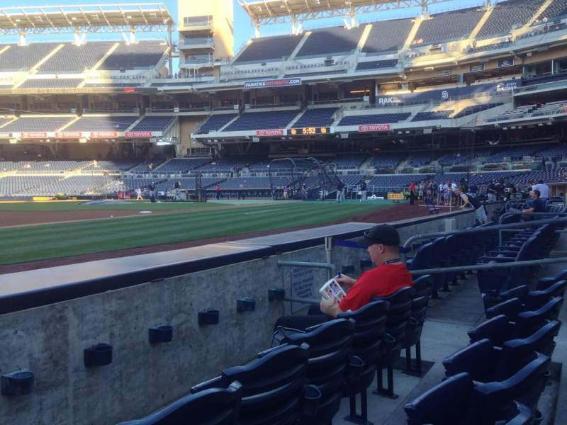 Seating view for Petco Park Section 114 Row 3 Seat 10