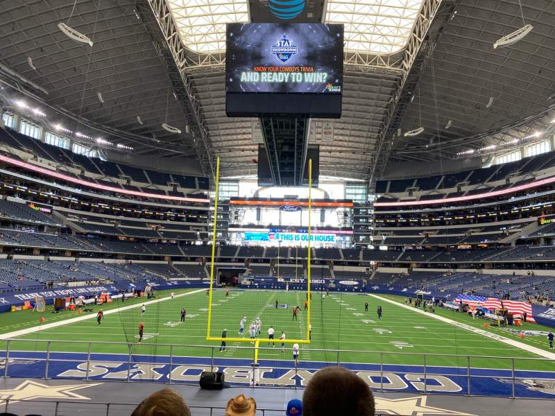 Seating view for AT&T Stadium Section 124 Row 18 Seat 8
