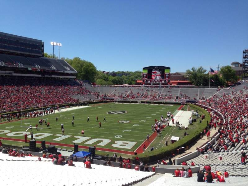 Seating view for Sanford Stadium Section 116 Row 49 Seat 18