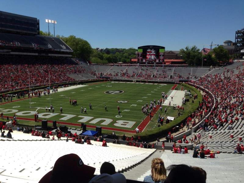 Seating view for Sanford Stadium Section 116 Row 56 Seat 20