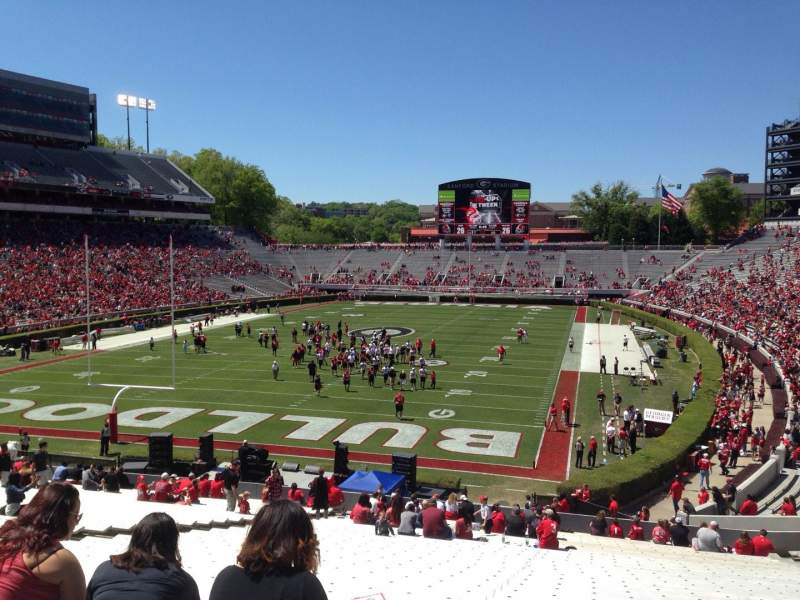 Seating view for Sanford Stadium Section 117 Row 44 Seat 15