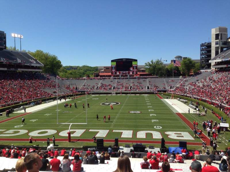 Seating view for Sanford Stadium Section 118 Row 44 Seat 15