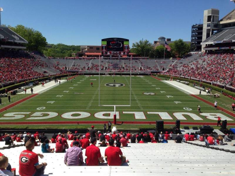 Seating view for Sanford Stadium Section 119 Row 44 Seat 15