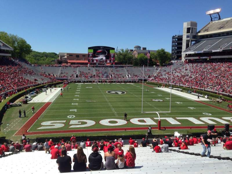 Seating view for Sanford Stadium Section 120 Row 44 Seat 15