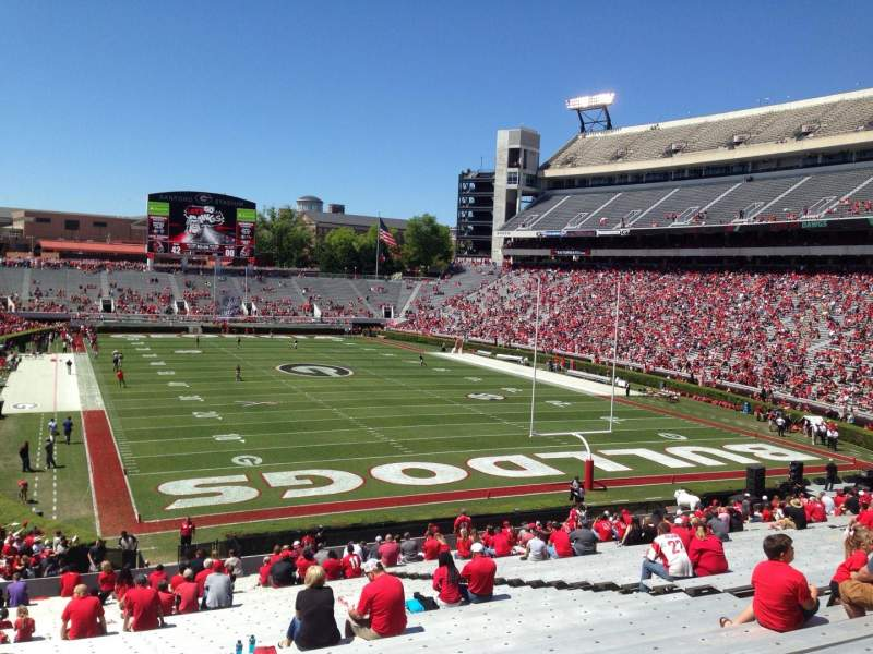 Seating view for Sanford Stadium Section 121 Row 44 Seat 16