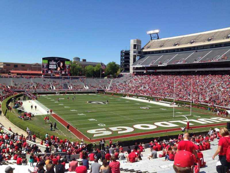 Seating view for Sanford Stadium Section 122 Row 45 Seat 10
