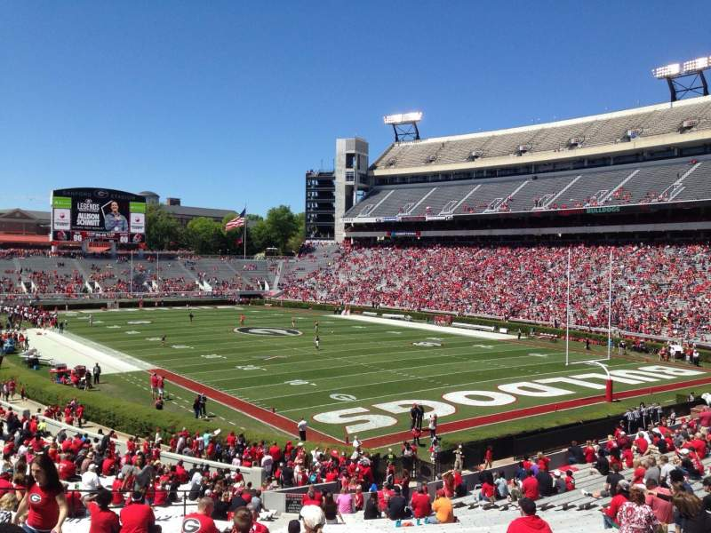 Seating view for Sanford Stadium Section 123 Row 41 Seat 11