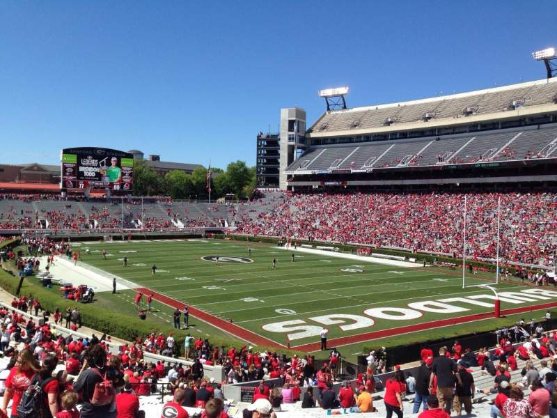 Seating view for Sanford Stadium Section 123 Row 41 Seat 10