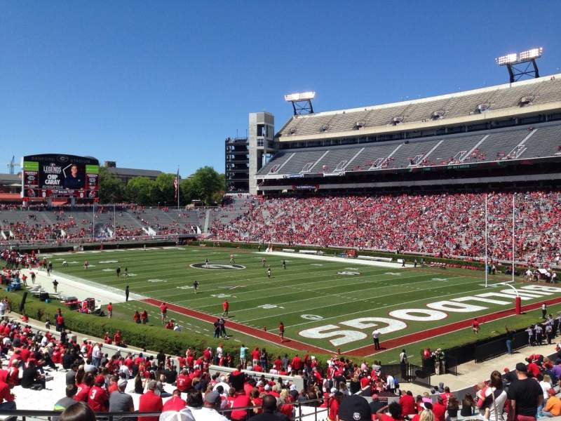 Seating view for Sanford Stadium Section 124 Row 41 Seat 7