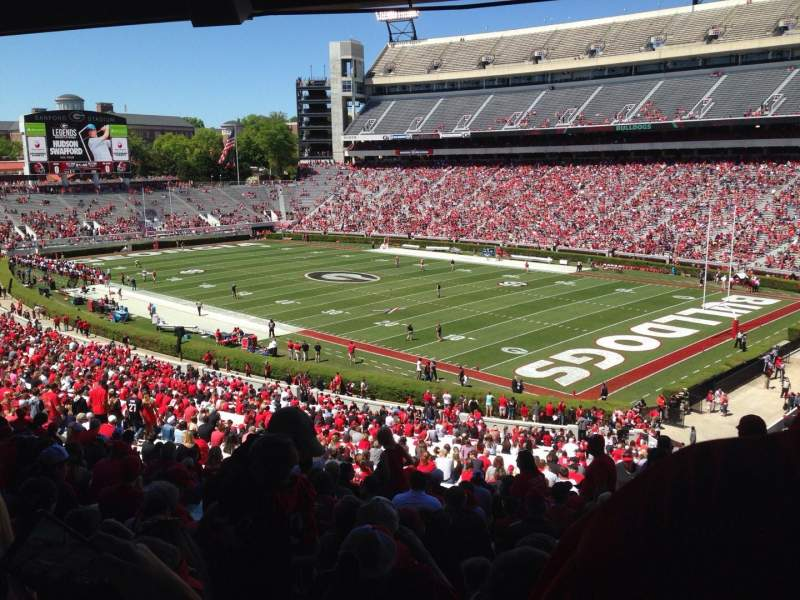 Seating view for Sanford Stadium Section 125 Row 60 Seat 1