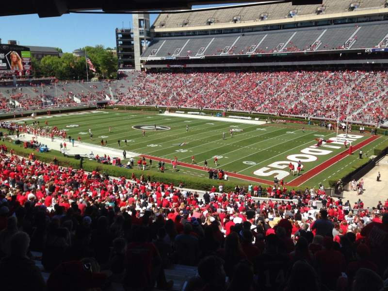 Seating view for Sanford Stadium Section 126 Row 60 Seat 11