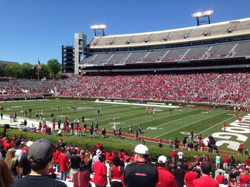 Seating view for Sanford Stadium Section 127 Row 30 Seat 1