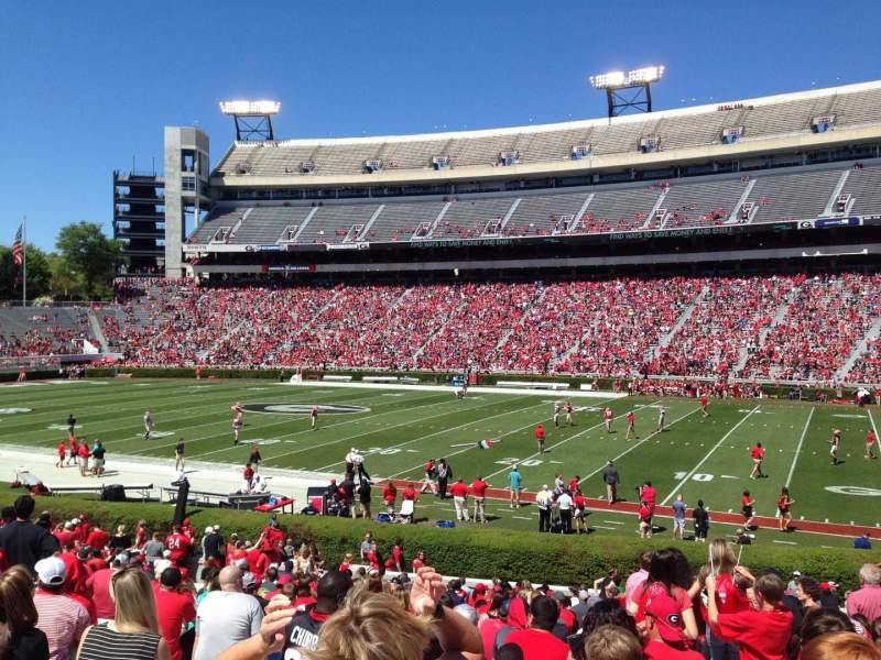Seating view for Sanford Stadium Section 128 Row 29 Seat 7