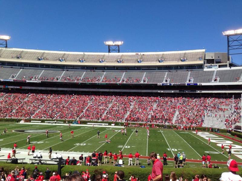 Seating view for Sanford Stadium Section 129 Row 29 Seat 4