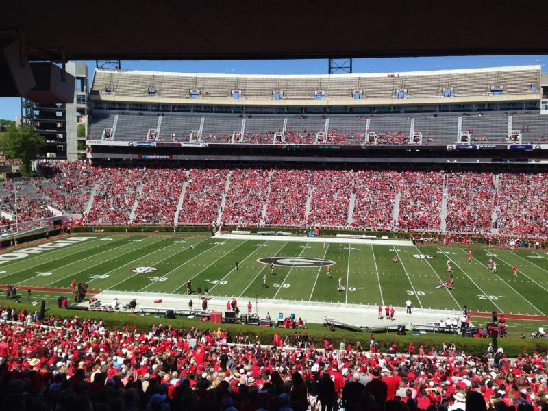 Seating view for Sanford Stadium Section 130 Row 59 Seat 29