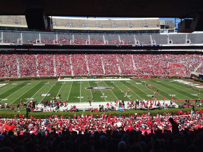 Seating view for Sanford Stadium Section 132 Row 60 Seat 5
