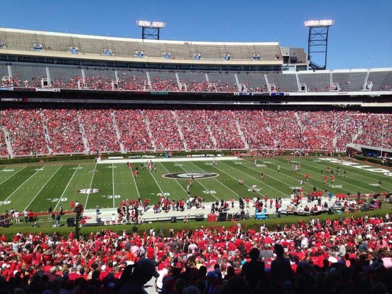 Seating view for Sanford Stadium Section 133 Row 60 Seat 1