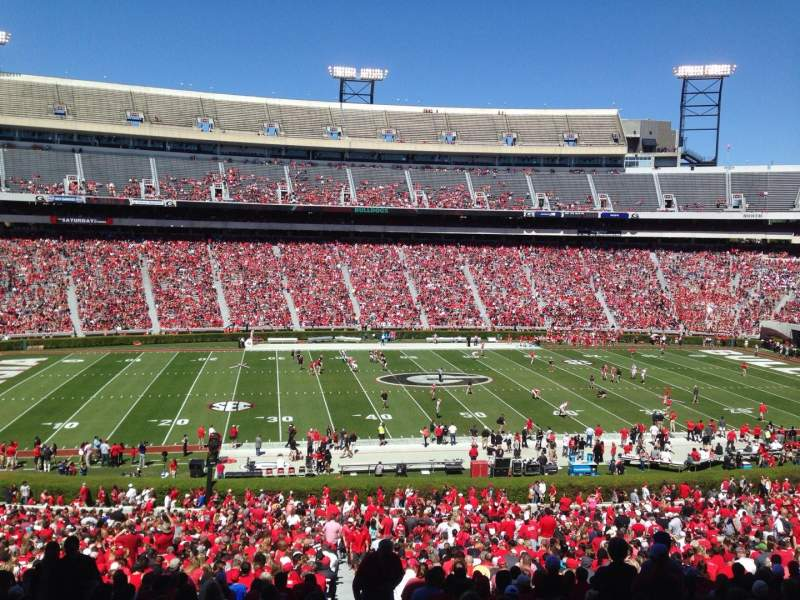 Seating view for Sanford Stadium Section 133 Row 58 Seat 1