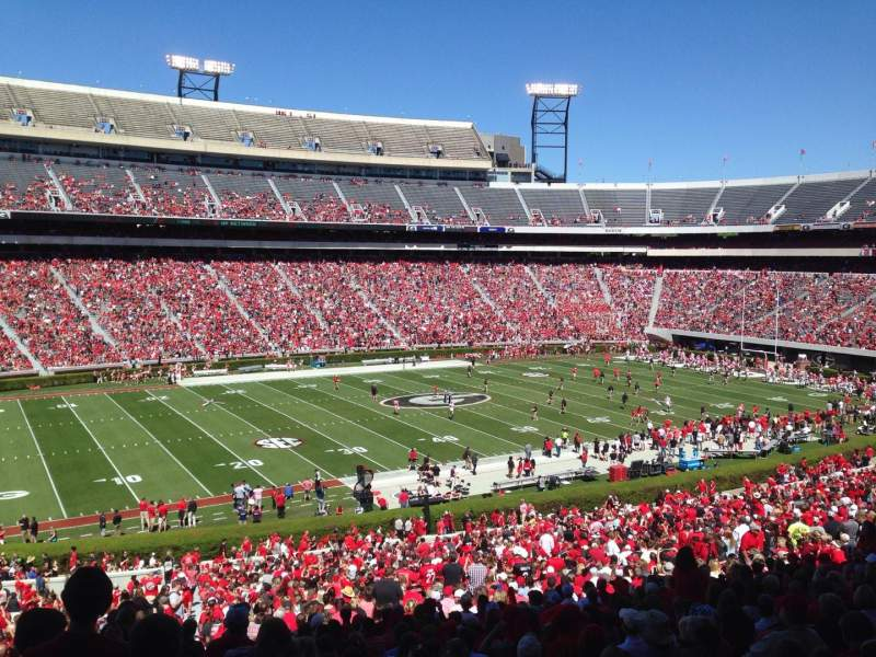 Seating view for Sanford Stadium Section 134 Row 58 Seat 29