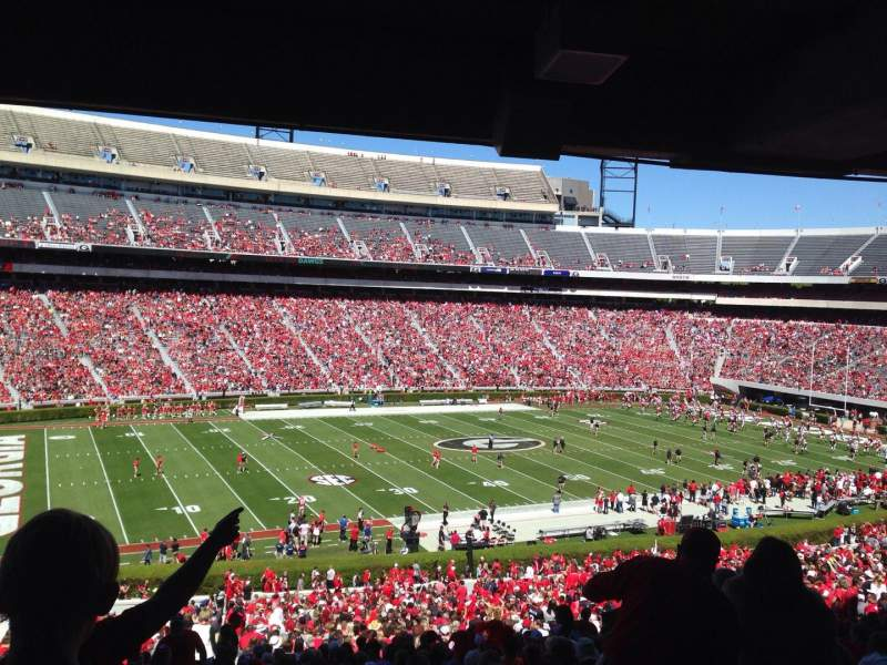 Seating view for Sanford Stadium Section 134 Row 60 Seat 29