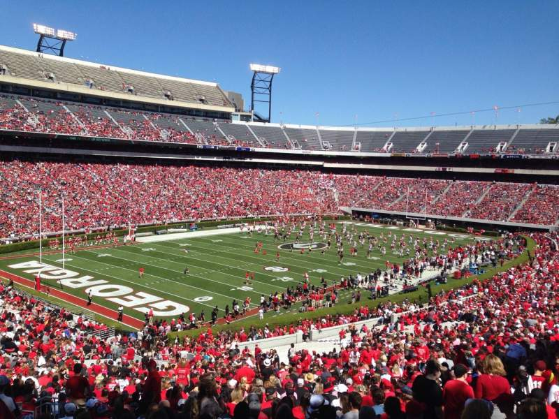 Seating view for Sanford Stadium Section 137 Row 60 Seat 31