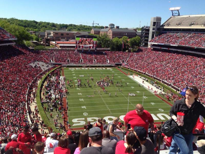Seating view for Sanford Stadium Section 321 Row 22 Seat 4