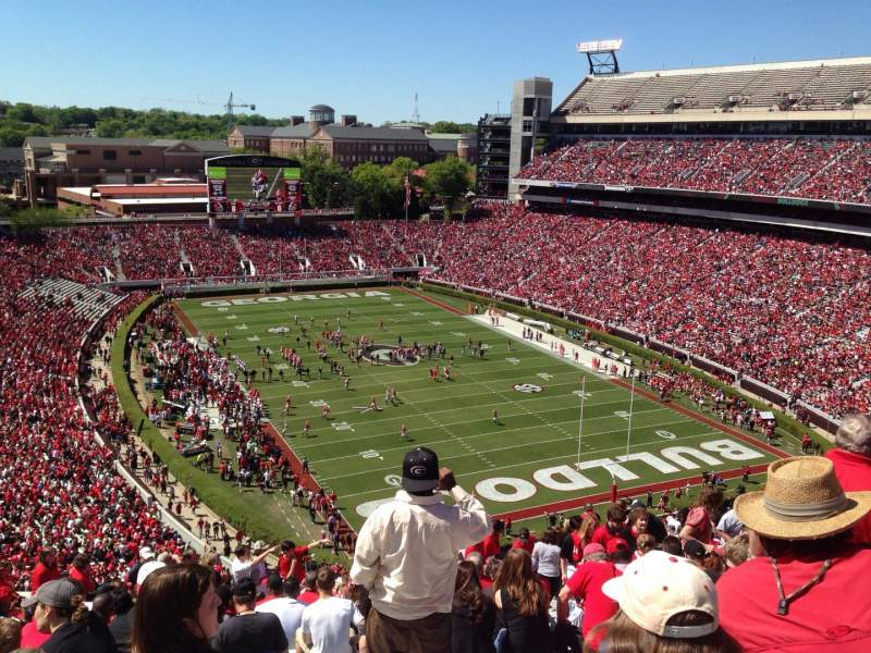 Seating view for Sanford Stadium Section 322 Row 21 Seat 11