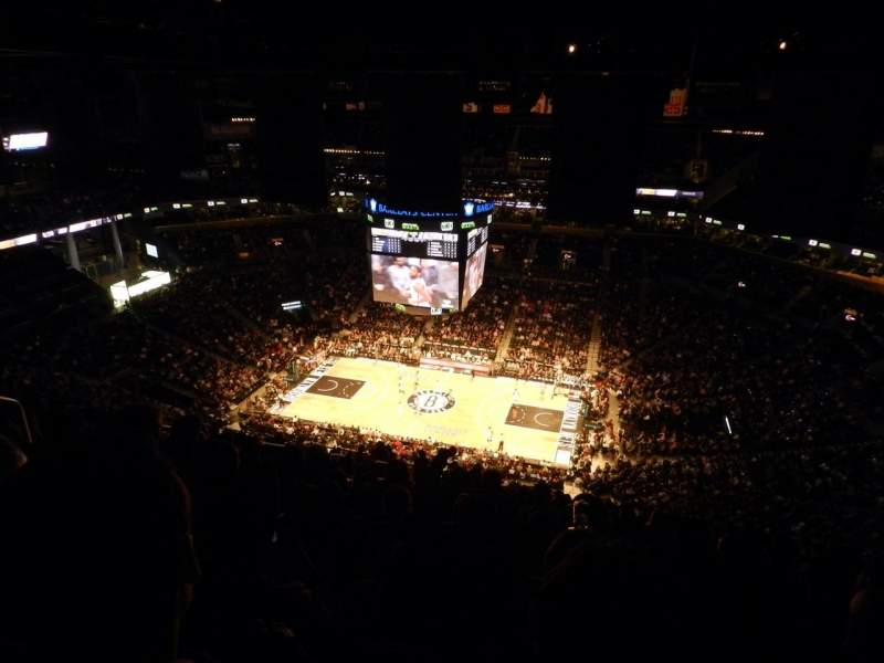 Seating view for Barclays Center Section 222 Row 21 Seat 19