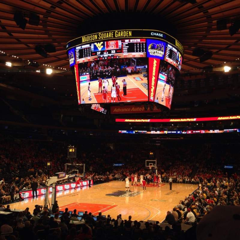 Seating view for Madison Square Garden Section 113 Row 9 Seat 14
