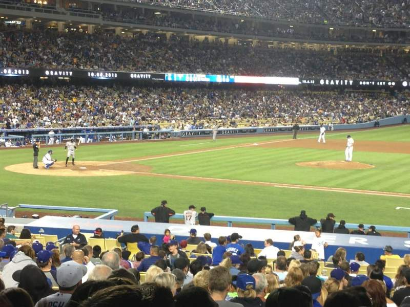 Seating view for Dodger Stadium Section 18FD Row W Seat 5