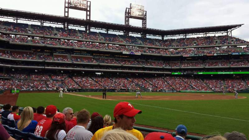Seating view for Citizens Bank Park Section 110 Row 6 Seat 7