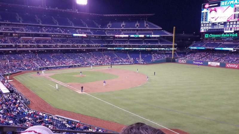Seating view for Citizens Bank Park Section 208 Row 2 Seat 22