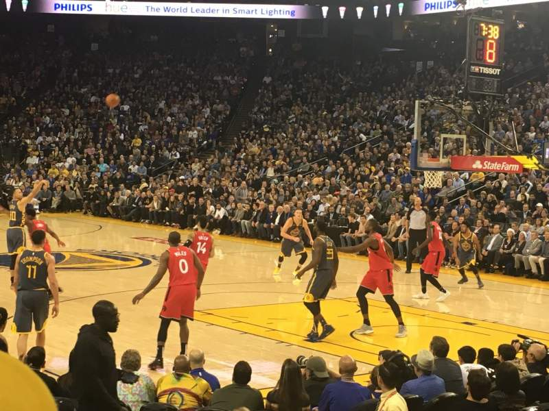Seating view for Oracle Arena Section 124 Row 5 Seat 9
