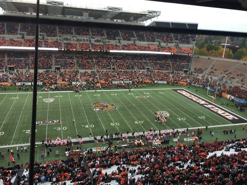 Seating view for Reser Stadium Section Suite Row Box 3