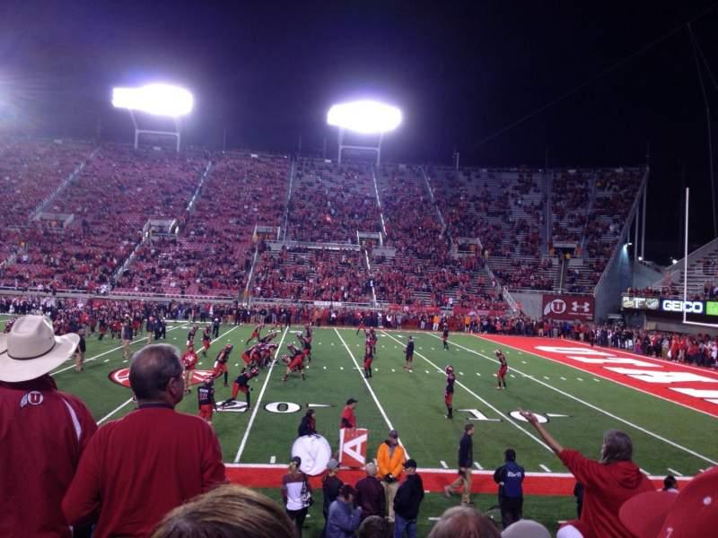 Rice-Eccles Stadium, section: W10, row: 8, seat: 11