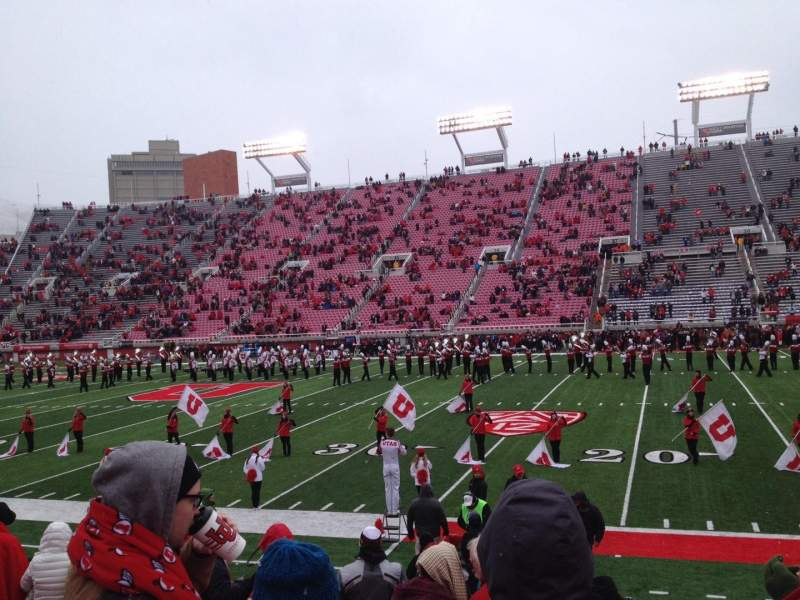 Seating view for Rice-Eccles Stadium Section W10 Row 8 Seat 12