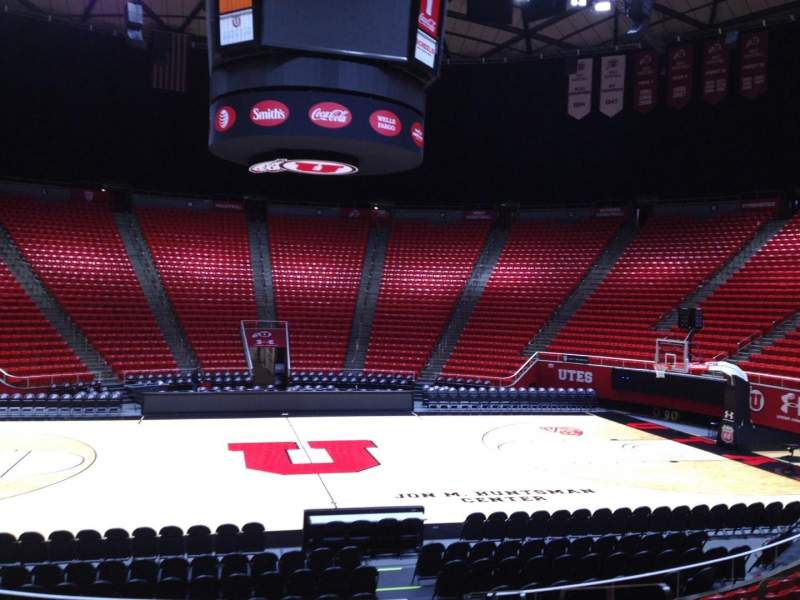 Seating view for Jon M. Huntsman Center Section a Row 12 Seat 5