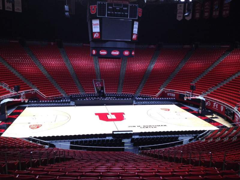 Seating view for Jon M. Huntsman Center Section A Row 25 Seat 6