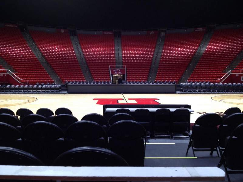 Seating view for Jon M. Huntsman Center Section A Row 1 Seat 1