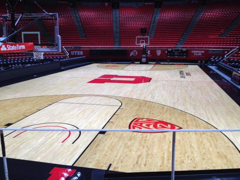 Seating view for Jon M. Huntsman Center Section F Row 6 Seat 1