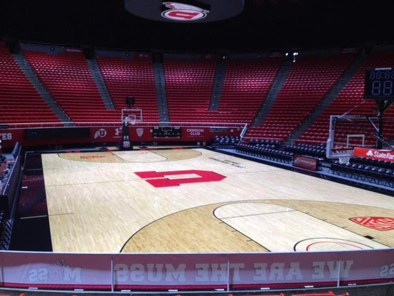 Seating view for Jon M. Huntsman Center Section H Row 9 Seat 7