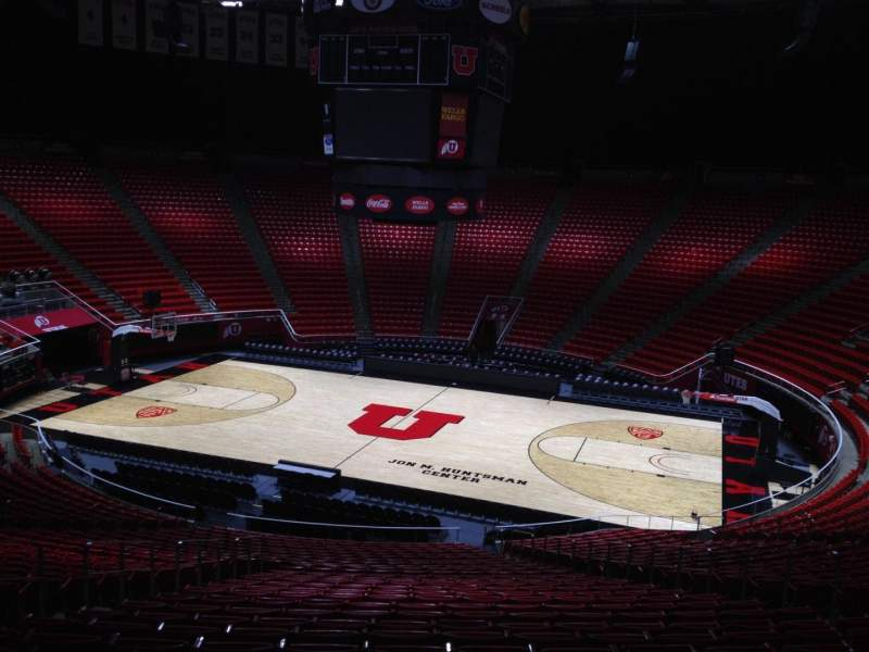 Seating view for Jon M. Huntsman Center Section Y Row 28 Seat 7