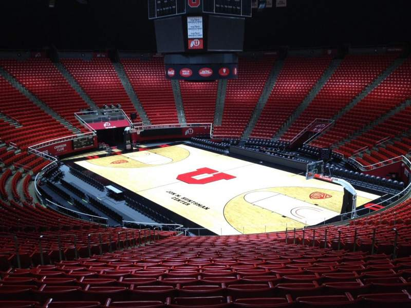 Seating view for Jon M. Huntsman Center Section W Row 28 Seat 8