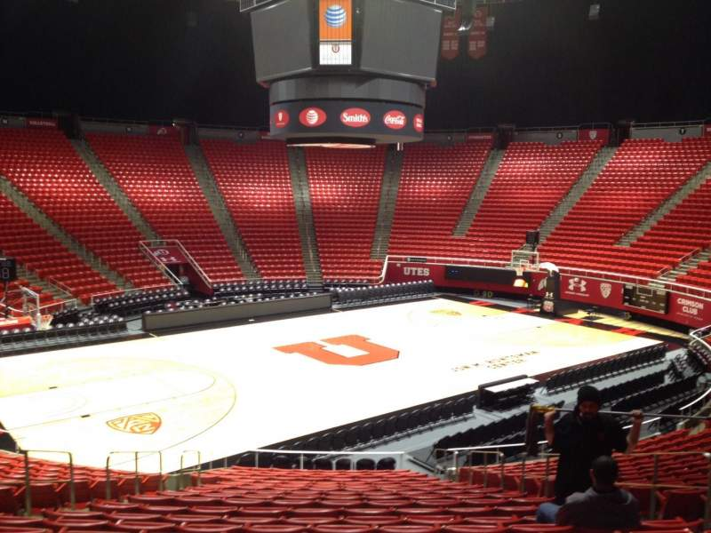 Seating view for Jon M. Huntsman Center Section C Row 19 Seat 7