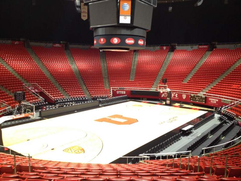 Seating view for Jon M. Huntsman Center Section D Row 19 Seat 7
