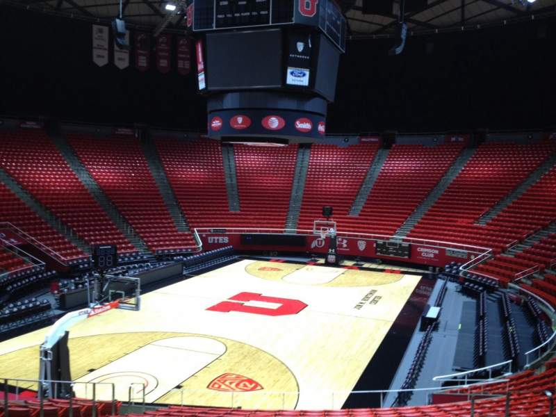 Seating view for Jon M. Huntsman Center Section E Row 19 Seat 7